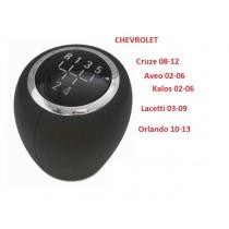 Hlavica radiacej páky Chevrolet Orlando, 5 stupňová, chrom