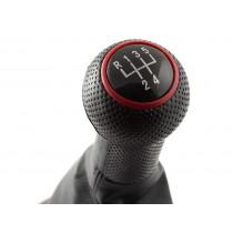 Radiaca páka s manžetou na VW Golf IV, 5 stupňová, červený dizajn