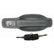 Kľučka vonkajšia - predné pravé, bočné posuvné a zadné dvere pre Iveco Turbo Daily, šedá.
