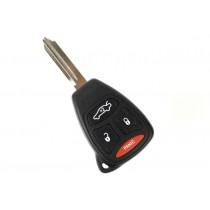 Obal kľúča, holokľúč pre Dodge Charger, 4 tlačítkový