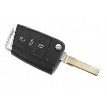 Obal kľúča, holokľúč pre VW Golf MK7, trojtlačítkový