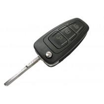 Obal kľúča, holokľúč pre Ford B-Max, trojtlačítkový