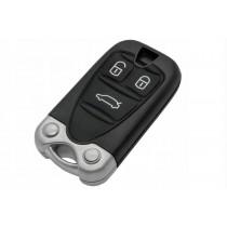 Obal kľúča, holokľúč pre Alfa Romeo Brera, trojtlačítkový, čierny