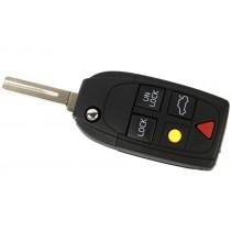 Obal kľúča, holokľúč pre Volvo XC70, 5 tlačítkový, čierny