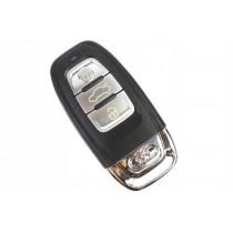 Obal kľúča, holokľúč, trojtlačítkový  pre Audi A7, chrom