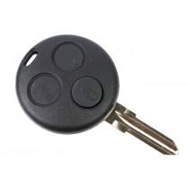 Obal kľúča, holokľúč pre Smart Forfour, trojtlačítkový, čierny