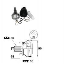 Sada kĺbov hnacieho hriadeľa pre Audi A1,  6Q0498099E