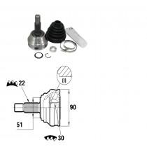 Sada kĺbov hnacieho hriadeľa pre Audi 80, 171407311P