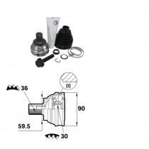 Sada kĺbov hnacieho hriadeľa pre VW Scirocco, 1K0498099E