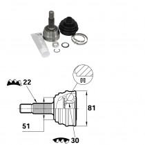Sada kĺbov hnacieho hriadeľa pre Audi 80, 1H0407311C