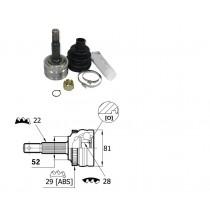 Sada kĺbov hnacieho hriadeľa pre Opel Tigra, 26032411