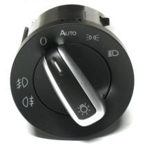 Vypínač svetiel VW Golf V Plus, s funkciou auto, chrom