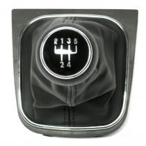 Radiaca páka s manžetou VW Jetta A5, 5 stupňová, chromový ramček, 2006 - 2012