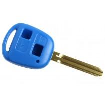 Obal kľúča, holokľúč Toyota Land Cruiser, 2 tlačítkový, modrý