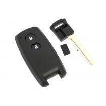 Obal kľúča, holokľúč pre Suzuki SX4, dvojtlačítkový, čierny a