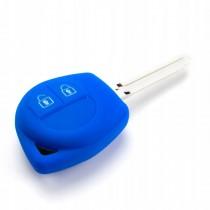 Silikonový obal, púzdro kľúča, modrý pre Suzuki Wagon