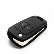 Silikonový obal, púzdro kľúča, sivý pre Opel Corsa D
