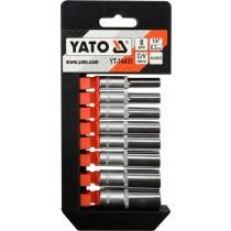 """Sada nadstavcov YATO, 1/4"""" šesťhranné 5,5-13 mm, 8ks"""