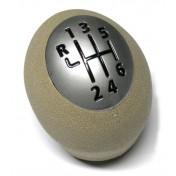Hlavica radiacej páky Renault Fluence, 6 stupňova, béžova, chrom 1